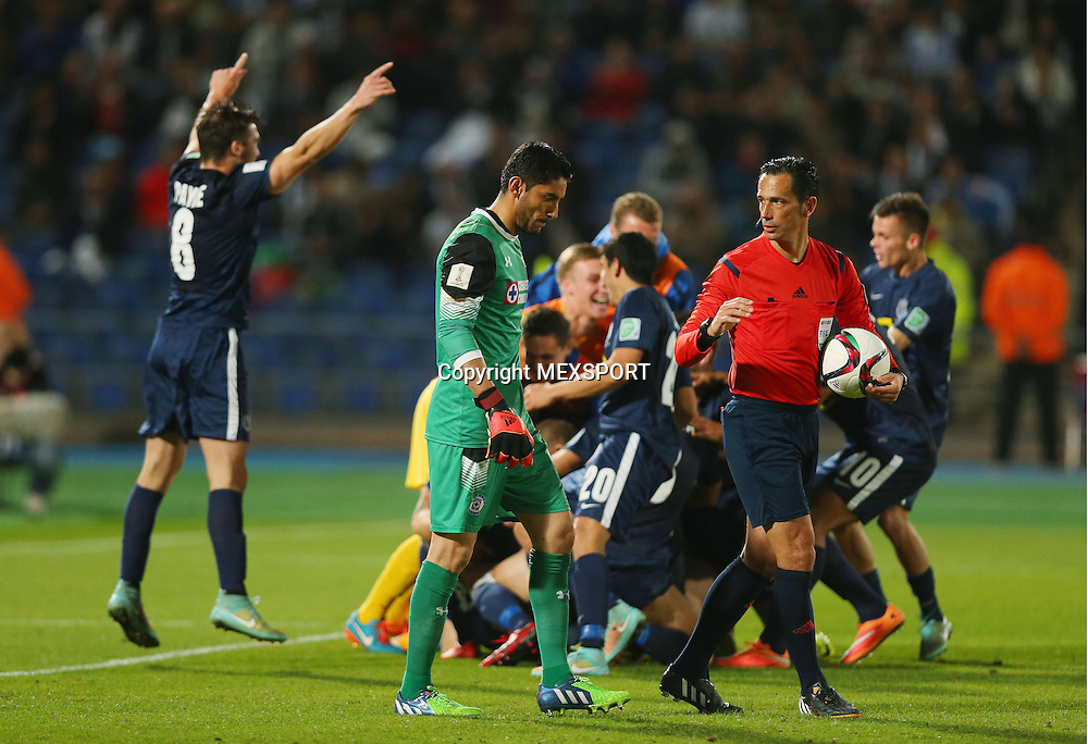 Action photo during the match Cruz Azul (MEX) vs Auckland City (NZL) Reported by the Third Place Club World Cup 2014 Morocco photo: Jose de Jesus Corona of Cruz Azul<br /> <br /> 12/20/2014 / Matthew Ashton / AMA / Mexsport