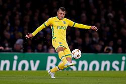 Mauricio of Sporting in action - Photo mandatory by-line: Rogan Thomson/JMP - 07966 386802 - 10/12/2014 - SPORT - FOOTBALL - London, England - Stamford Bridge - Sporting Clube de Portugal - UEFA Champions League Group G.