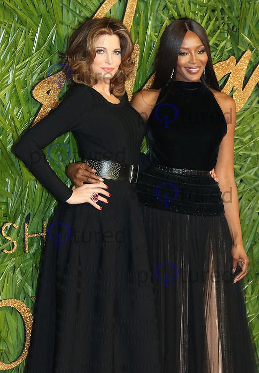 Stephanie Seymour, Naomi Campbell, The Fashion Awards 2017, The Royal Albert Hall, London UK, 04 December 2017, Photo by Richard Goldschmidt