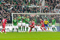 05.11.2011, Weser Stadion, Bremen, GER, 1.FBL, Werder Bremen vs 1.FC Köln, im Bild Lukas Podolski (Koeln / Köln #10) beim Freistoss // during the match GER, 1.FBL, Werder Bremen vs 1.FC Koeln on 2011/11/05, 12. matchday, Weser Stadion, Bremen, Germany. EXPA Pictures © 2011, PhotoCredit: EXPA/ nph/  Gumz       ****** out of GER / CRO  / BEL ******