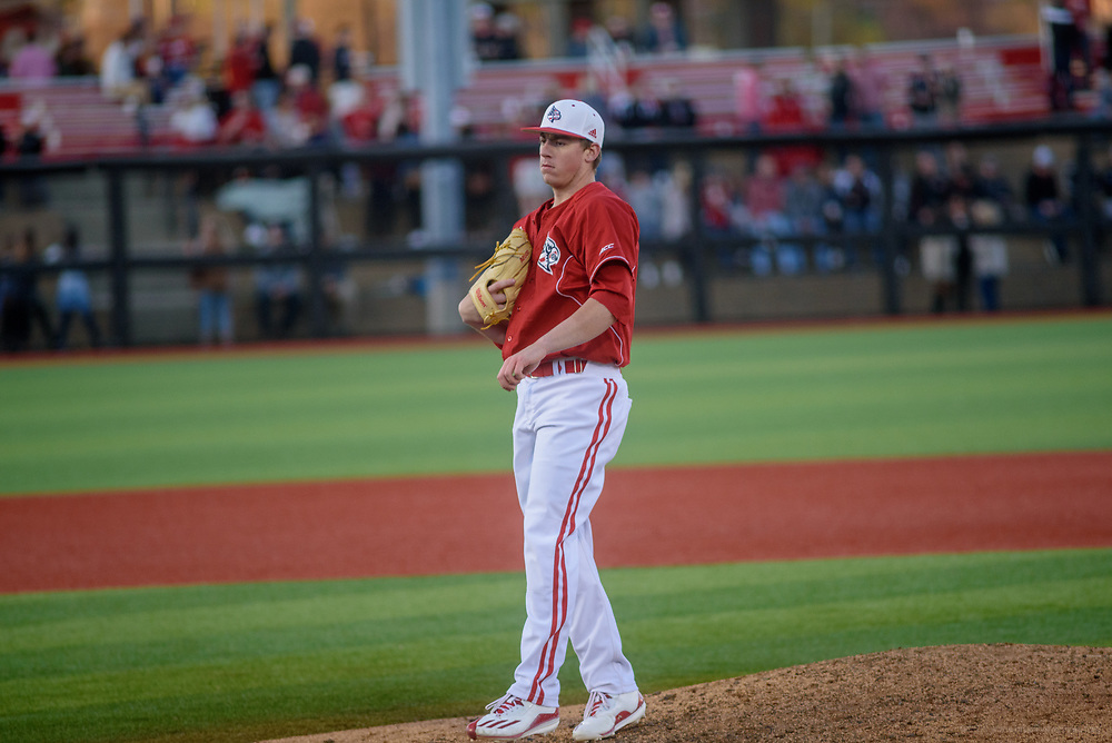 University of Louisville star Brendan McKay pitches Friday, April 7, 2017 as U of L (25-3, 10-2 ACC) hosts No. 22 Wake Forest (22-8, 8-4) for the first of a three-game series at Jim Patterson Stadium. (Photo by Brian Bohannon)