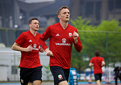 NANNING, CHINA - Saturday, March 24, 2018: Wales' Andy King during a training session at the Guangxi Sports Centre ahead of the 2018 Gree China Cup International Football Championship final match against Uruguay. (Pic by David Rawcliffe/Propaganda)