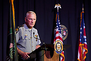 Ohio State Highway Patrol Superintendant Pride delivers his keynote address.