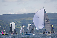 Largs Regatta Festival 2018<br /> <br /> Day 1 - Keelboat fleets with , GBR7667R, Now or Never 3, Neil Sandford, Fairlie YC, Mat 1010<br /> <br /> Images: Marc Turner