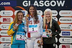 STETSENKO Anna, KRIVSHINA Anna, YOUNG Colleen UKR, RUS, USA at 2015 IPC Swimming World Championships -  Women's 100m Backstroke S13