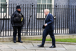 © Licensed to London News Pictures. 13/12/2019. London, UK. British Prime Minister and leader of the Conservative Party, BORIS JOHNSON arrives back in Downing Street after meeting Queen Elizabeth II to ask to form a Government after the Conservative Party wins the General Election 2019, with a majority. Photo credit: Dinendra Haria/LNP