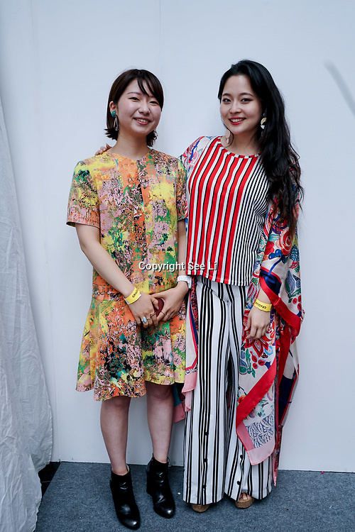 London,England,UK. 5th June 2017. Designer Eriko Yamamoto from Japan and Stefania nam from Korea showcases her latest collection at the Graduate Fashion Week 2017 Day 2 at The Old Truman Brewery. by See Li