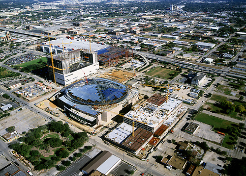 Stock Photo Of The Aerial View Of Construction Work Being Done On The Toyota  Center In.