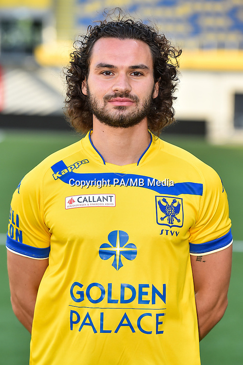 STVV's Alessandro Landoli poses for the photographer during the 2015-2016 season photo shoot of Belgian first league soccer team STVV, Friday 17 July 2015 in Sint-Truiden.