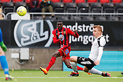 OSTERSUND, SWEDEN - APRIL 21: Ken Sema of Ostersunds FK shoots during the Allsvenskan match between Ostersunds FK and Orebro SK at Jamtkraft Arena on April 21, 2018 in Ostersund, Sweden. Photo by Nils Petter Nilsson/Ombrello ***BETALBILD***