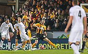 Manchester United's Adnan Janazaj shoots during the The FA Cup match between Cambridge United and Manchester United at the R Costings Abbey Stadium, Cambridge, England on 23 January 2015. Photo by Phil Duncan.