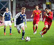 Scotland's Craig Slater during Scotland Under-21 v FYR Macedonia,  UEFA Under 21 championship qualifier  at Tynecastle, Edinburgh. Photo: David Young<br /> <br />  - © David Young - www.davidyoungphoto.co.uk - email: davidyoungphoto@gmail.com