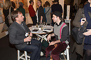 JARI LAGER; LIAM SCULLY, Preview for the London Art Fair,  Islington Business Design Centre. London. 13 January 2014