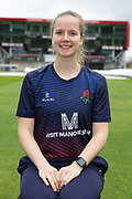 Lancashire Thunders Alice Dyson during the Lancashire County Cricket Club at the Emirates, Old Trafford, Manchester, United Kingdom on 3 April 2019.