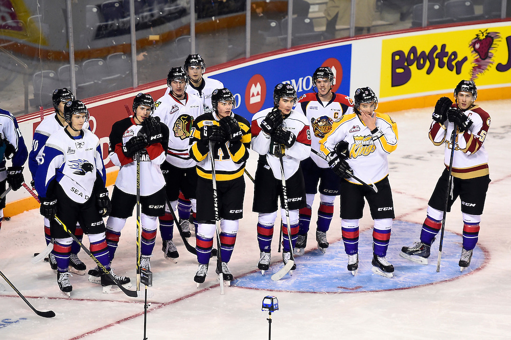 The Skills Combine at the 2015 BMO CHL Top Prospects Game in St. Catharines, ON on Wednesday Jan. 21, 2015. Photo by Aaron Bell/CHL Images