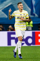 February 21, 2019 - Saint Petersburg, Russia - Martin Skrtel of Fenerbahce SK gestures during the UEFA Europa League Round of 32 second leg match between FC Zenit Saint Petersburg and Fenerbahce SK on February 21, 2019 at Saint Petersburg Stadium in Saint Petersburg, Russia. (Credit Image: © Mike Kireev/NurPhoto via ZUMA Press)