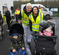 Cian Hayes and Edel McManamon with their toddlers enjoying the Operation Transformation walk hosted by Westport GAA club on saturday last.<br /> Pic Conor McKeown