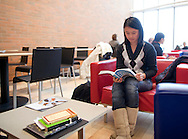 Yining Xu, 20 years old, sophomore, of Shanghai, China, studies at Grinnell College in Grinnell, Iowa on Tuesday February 1, 2011.