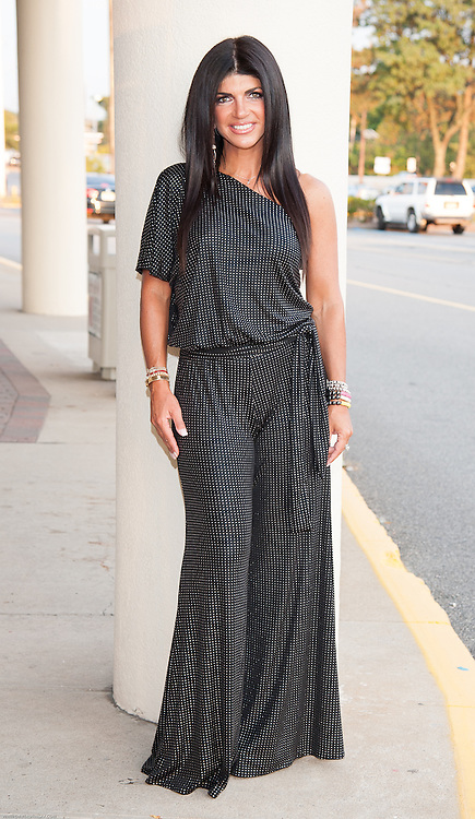 Teresa Giudice at Posche Boutique in Wayne, NJ