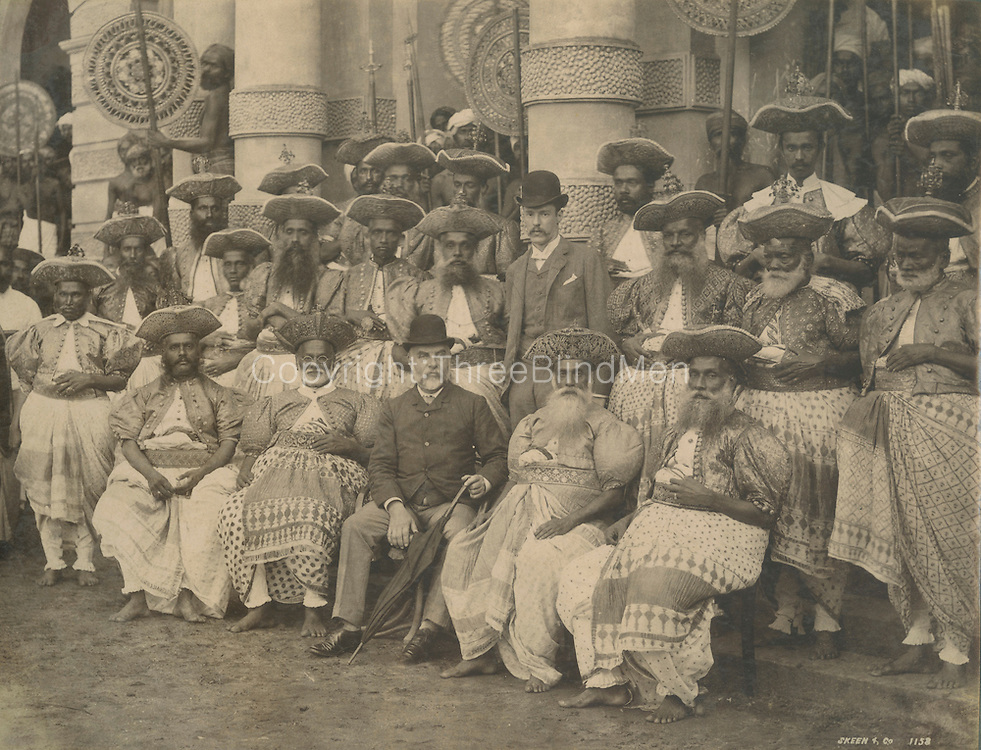 Kandyan Chieftains <br /> Photograph by Skeen.