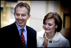 The Prime Minister Tony Blair and his wife Cherie arrive at St Ann's Church,Manchester , on the Opening day of the Labour Party Conference PRESS ASSOCIATION Photo. Picture date:Sunday 24th September  , 2006. Photo credit should read: Andrew Parsons/PA.