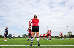 Bristol Bears Women practice a line-out - Mandatory by-line: Paul Knight/JMP - 02/09/2018 - RUGBY - Ashton Gate Stadium - Bristol, England - Bristol Bears v Bath Rugby - Gallagher Premiership Rugby