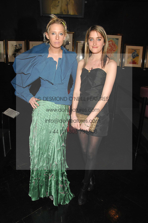 Left to right, the HON.SOPHIA HESKETH and VIOLET VON WESTENHOLTZ at Andy & Patti Wong's Chinese new Year party held at County Hall and Dali Universe, London on 26th January 2008.<br /> <br /> NON EXCLUSIVE - WORLD RIGHTS (EMBARGOED FOR PUBLICATION IN UK MAGAZINES UNTIL 1 MONTH AFTER CREATE DATE AND TIME) www.donfeatures.com  +44 (0) 7092 235465