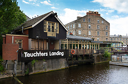 Exterior of Teuchters Landing pub in Leith, Scotland, UK