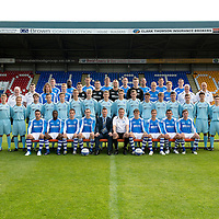 St Johnstone FC Season 2012-13 Photocall<br /> Back Row from left, Tam Scobbie, Gregory Tade, David McCracken; Jamie Adams; Frazer Wright; Rowan Vine, Gary Miler and David Robertson<br /> 2nd back row from left, Tommy Campbell Youth Development Manager, Dr Duncan Goodall, Stevie May, Liam Caddis, Craig Reid, Jonny Tuffey, Alan Mannus, Zander Clark, Steven Anderson, Liam Craig, Atholl Henderson Community Coach, Graham Kirk Sports Sciences.<br /> 3rd back row from left, Jocky Peebles Asst Physio, Alec Cleland Coach, Greg Mitchell, Scott Gray, Ricky McIntosh, Callum McConnell, Chris Tobin, Keiran Stewart, Ross Still, Gareth Rodger, Ally Gilchrist, Chris Moffat, Anthony Higgins, Chris Kane, Andrew Steeves, Craig Thomson, Robbie Norrie, Matthew McArthur and John Kerr Physio<br /> Front row from left, Sean Higgins, Nigel Hasselbaink, Kevin Moon, Dave Mackay, Steve Lomas Manager, Tommy Wright Asst Manager, Murray Davidson, Chris Millar, Callum Davidson and Paddy Cregg.<br /> Picture by Graeme Hart.<br /> Copyright Perthshire Picture Agency<br /> Tel: 01738 623350  Mobile: 07990 594431