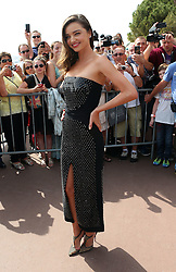 Model Miranda Kerr attends the Magnum Pink and Black Launch at Magnum Beach during the 68th Annual Cannes Film Festival in Cannes, France. 14/05/2015<br />BYLINE MUST READ : JAMESY/GOTCHA IMAGES<br /><br />Copyright by © Gotcha Images Ltd. All rights reserved.<br />Usage of this image is conditional upon the acceptance <br />of Gotcha Images Ltd, terms and conditions available at<br />www.gotchaimages.com