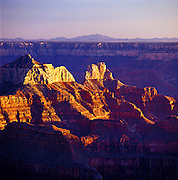 Zoroaster Temple At Sunset, Grand Canyon National Park - North Rim, AZ