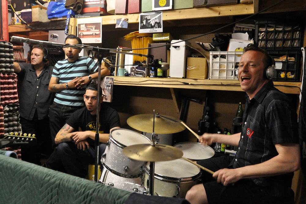 The Dragtones in session at Wild Records studio in Altadena, CA 5/2/2010.