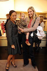 Left to right, LILLIAN VON STAUFFENBERG, CALGARY AVANSIONO and her daughter AVA LAVIGNE at a party to celebrate the opening of Pincess Marie-Chantal of Greece's store 'Marie-Chantal' 133A Sloane Street, London on 14th October 2008.