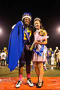 Homecoming King and Queen Andrew Williams and Vyhan Ngo pose for a portrait during halftime festivities during the Homecoming game against Saratoga at Milpitas High School in Milpitas, California, on October 10, 2014. Milpitas beat Saratoga 49-0. (Stan Olszewski/SOSKIphoto)