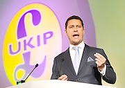 UKIP Annual Party Conference <br /> 26th September 2014 <br /> at Doncaster Racecourse, Great Britain <br /> <br /> <br /> <br /> <br /> Steven Woolfe MEP<br /> <br /> <br /> <br /> Photograph by Elliott Franks <br /> Image licensed to Elliott Franks Photography Services