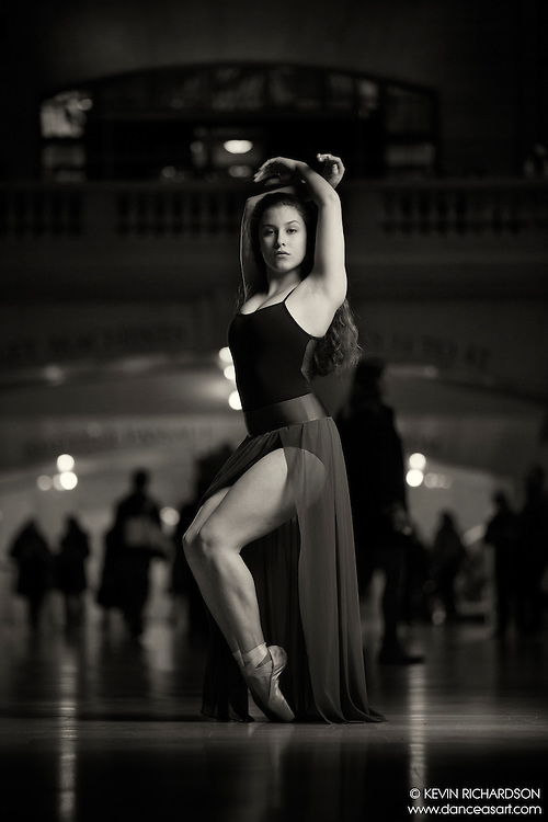 Dance As Art The New York City Photography Project Grand Central Terminal Series with dancer Natalie Wenzell