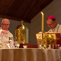Bishop of Killaloe Fintan Monahan and Clooney Parish Priest Fr Tom O'Gorman co celebrant at the Rededication of St John's Church, Clooney