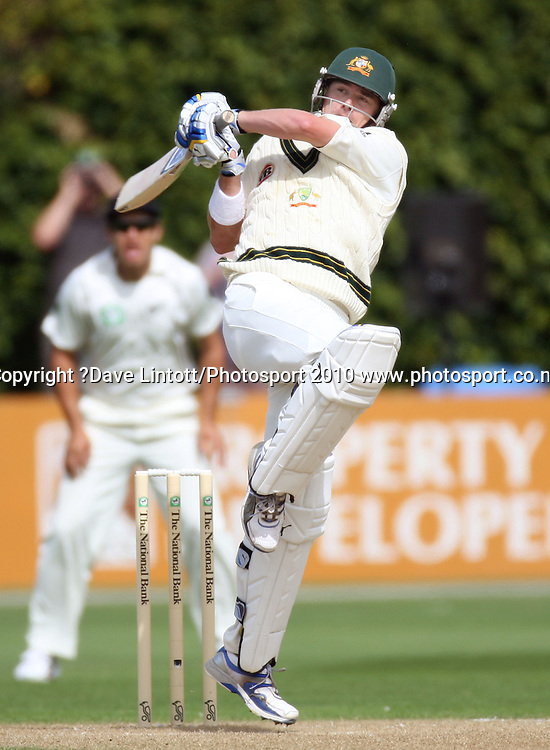 Australian batsman Marcus North.<br /> 1st cricket test match - New Zealand Black Caps v Australia, day two at the Basin Reserve, Wellington.Saturday, 20 March 2010. Photo: Dave Lintott/PHOTOSPORT