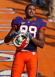 November 21, 2009; Clemson, SC, USA;  Clemson Tigers wide receiver Conner Webb (88) before the game against the Virginia Cavaliers at Memorial Stadium.  Clemson defeated Virginia 34-21.
