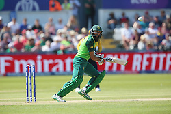 June 28, 2019 - Chester Le Street, County Durham, United Kingdom - South Africa's Hashim Amla batting during the ICC Cricket World Cup 2019 match between Sri Lanka and South Africa at Emirates Riverside, Chester le Street on Friday 28th June 2019. (Credit Image: © Mi News/NurPhoto via ZUMA Press)