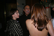 Sadie Frost, Dr. Nish Joshi and Lesley Clarke. Book launch for Dr. Joshi's Holistic Dett. The Arts Club, 40 Dover st. London. 26 May 2005. ONE TIME USE ONLY - DO NOT ARCHIVE  © Copyright Photograph by Dafydd Jones 66 Stockwell Park Rd. London SW9 0DA Tel 020 7733 0108 www.dafjones.com