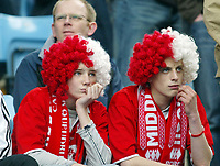 Photo: Chris Ratcliffe.<br /> Middlesbrough v West Ham United. The FA Cup, Semi-Final. 23/04/2006.<br /> Gutted Middlesbrough fans