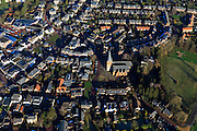 Nederland, Gelderland, Brummen, 20-01-2011; Centrum van Brummen met kerk in de Kerkstraat en muziektent op het Marktplein. .Center of Brummen with church and bandstand. luchtfoto (toeslag), aerial photo (additional fee required).copyright foto/photo Siebe Swart