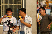 Tian'anmen Square. Hobby photographers with ice cream.
