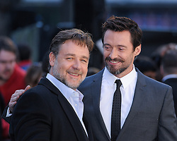 © Licensed to London News Pictures. 31/03/2014. London, UK. THE UK PREMIERE OF NOAH. Persons Pictured:  Russell Crowe, Hugh Jackman. Photo credit : Julie Edwards/LNP