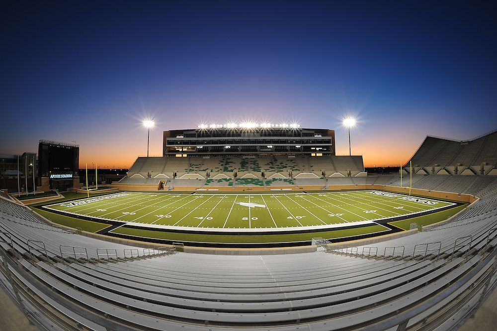 Architectural photography done in Denton, Texas of Apogee Stadium.