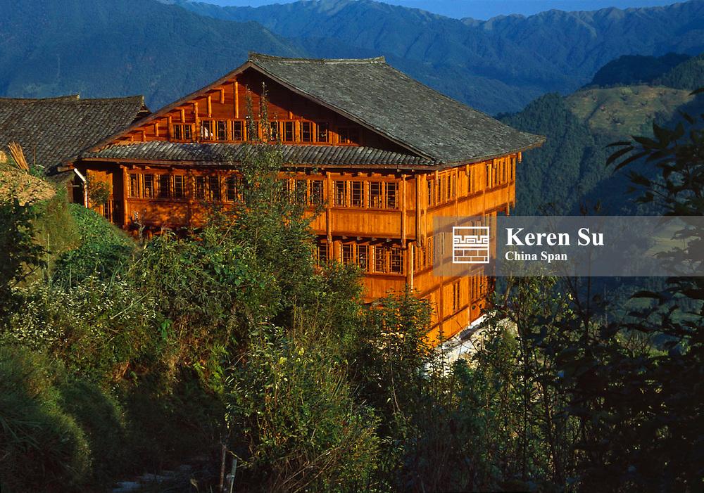 Li-An Lodge in the mountain, Longsheng, Guangxi Province, China