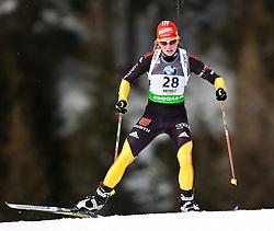 "19.01.2012, Südtirol Arena, Antholz, ITA, E.ON IBU Weltcup, 6. Biathlon, Antholz, Sprint Damen, im Bild Franziska Hildebrand (GER) // Franziska Hildebrand (GER) during Sprint Women E.ON IBU World Cup 6th, ""South Tyrol Arena"", Antholz-Anterselva, Italy on 2012/01/19, EXPA Pictures © 2012, PhotoCredit: EXPA/ Juergen Feichter"