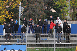 Terror Boys, ultras of Gorica during football match between ND Gorica and ND Mura 05 in 20th Round of Slovenian First League PrvaLiga NZS 2012/13 on November 24, 2012 in Nova Gorica, Slovenia. (Photo By Ales Cipot / Sportida)