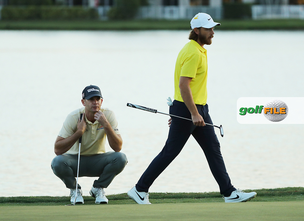 \Brendan Steele (USA) and Tommy Fleetwood (ENG)  during the final round of the Honda Classic, PGA National, Palm Beach Gardens, West Palm Beach, Florida, USA. 1/03/2020.<br /> Picture: Golffile   Scott Halleran<br /> <br /> <br /> All photo usage must carry mandatory copyright credit (© Golffile   Scott Halleran)